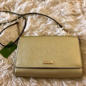 Kate spade gold crossbody bag